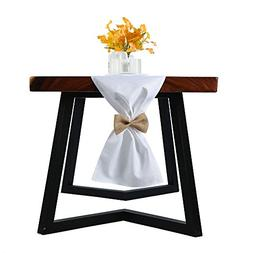 ZOOYOO White Burlap Table Runner 13x94Inch-Perfect For weddi