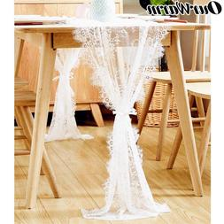 OurWarm White Floral Lace <font><b>Table</b></font> <font><b