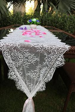 sweet dream White Lace Classic Table Runner 10Ft 16x120inche