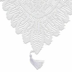 White Lace Table Cloth Runner Doilies Wedding Bridal Shower
