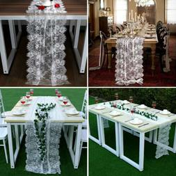 White Lace Table Runner Overlay Cover Rustic Chic Wedding Re
