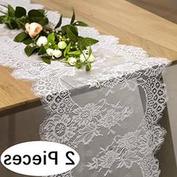 """B-COOL 12"""" X 120"""" Lace Table Runner Exquisite Lace Fabric Wi"""