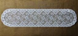 White Heritage Lace Regency Table Runners or Place Mats Dini