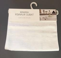"""White Table Runner Bardwil Continental Collection 14x70"""" $40"""