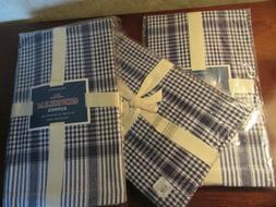 """Williams Sonoma ~NWT~ One Blue Gingham Table Runner 16""""x 1"""