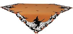 Xia Home Fashions Witch Embroidered Cutwork Halloween Table
