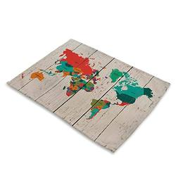 World Map Table Mats - MeMoreCool 100% Healthy Material Home