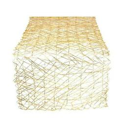 woven paper decorative metallic table