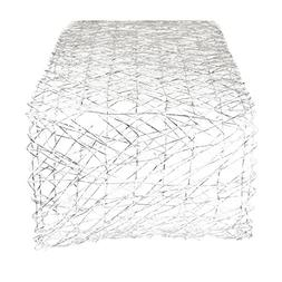 DII Woven Paper Decorative Metallic Table Runner for Holiday