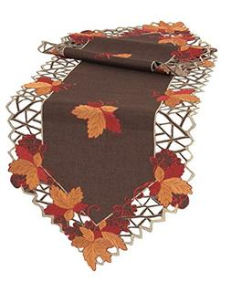 Xia Home Fashions XD160908 Harvest Hues Embroidered Cutwork