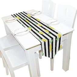 Yellow Lemon Table Runner Home Decor,13x90 Table Cloth Runne